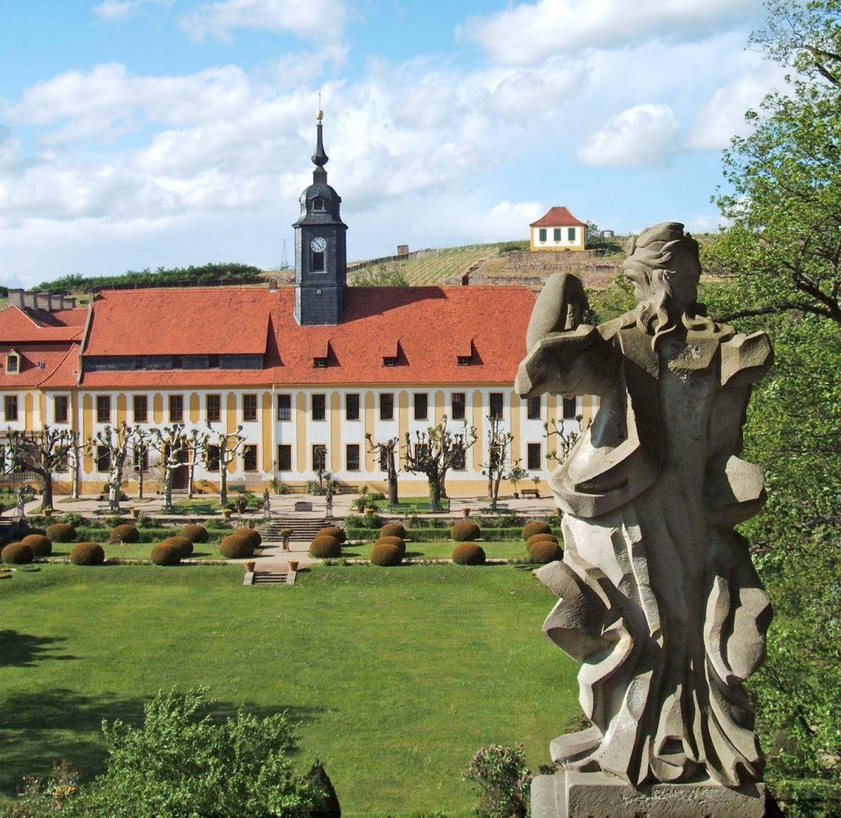 Schlosspark Seußlitz und George Bähr Kirche