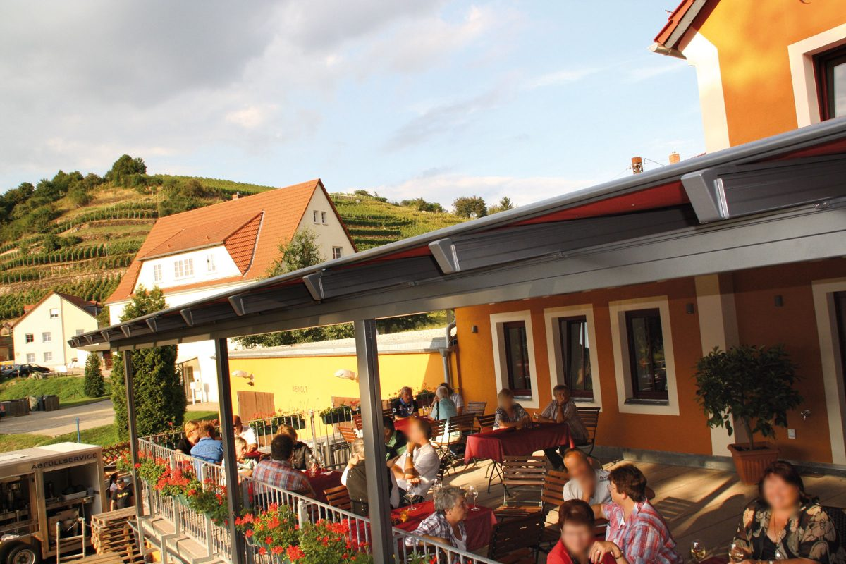 Terrasse in Ulrichs Weindomizil